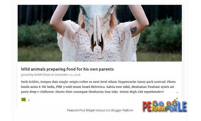 Perubahan pada featured widget blogger