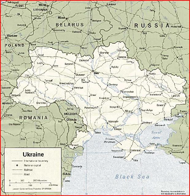 Gambar Peta politik Ukraina