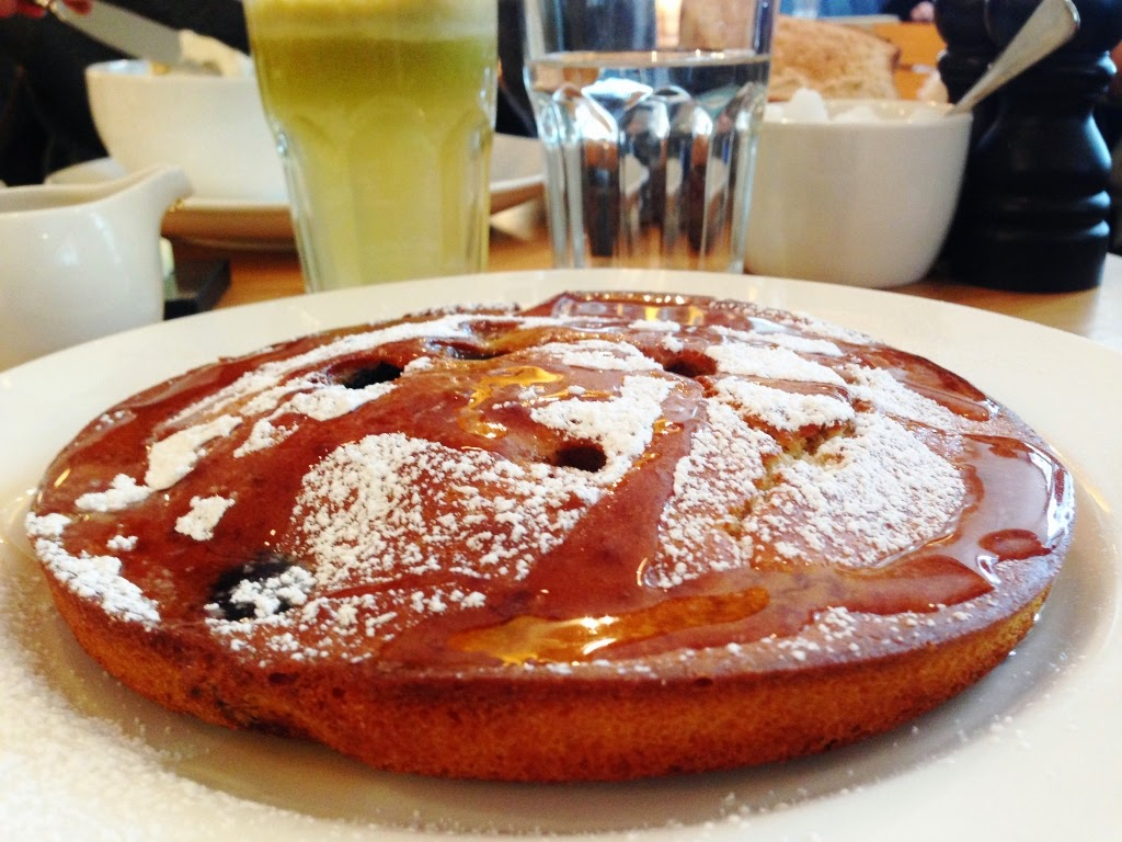 blueberry pancake at toms kitchen canary wharf