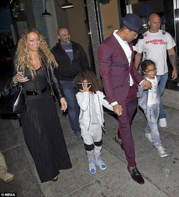 Mariah Carey goes on a family dinner with ex-husband Nick Cannon and their twins