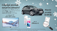 Castiga 1 Audi Q5, 5 Smart TV UHD Curbat + 10 iPhone 8