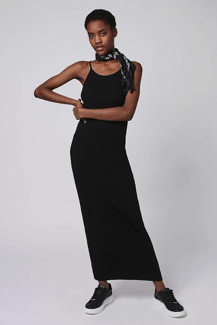 black singlet maxi dress, black strap maxi dress,