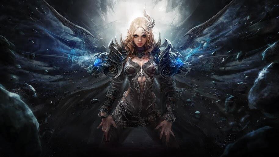 Fantasy, Girl, Demon, Warrior, 4K, #4.20