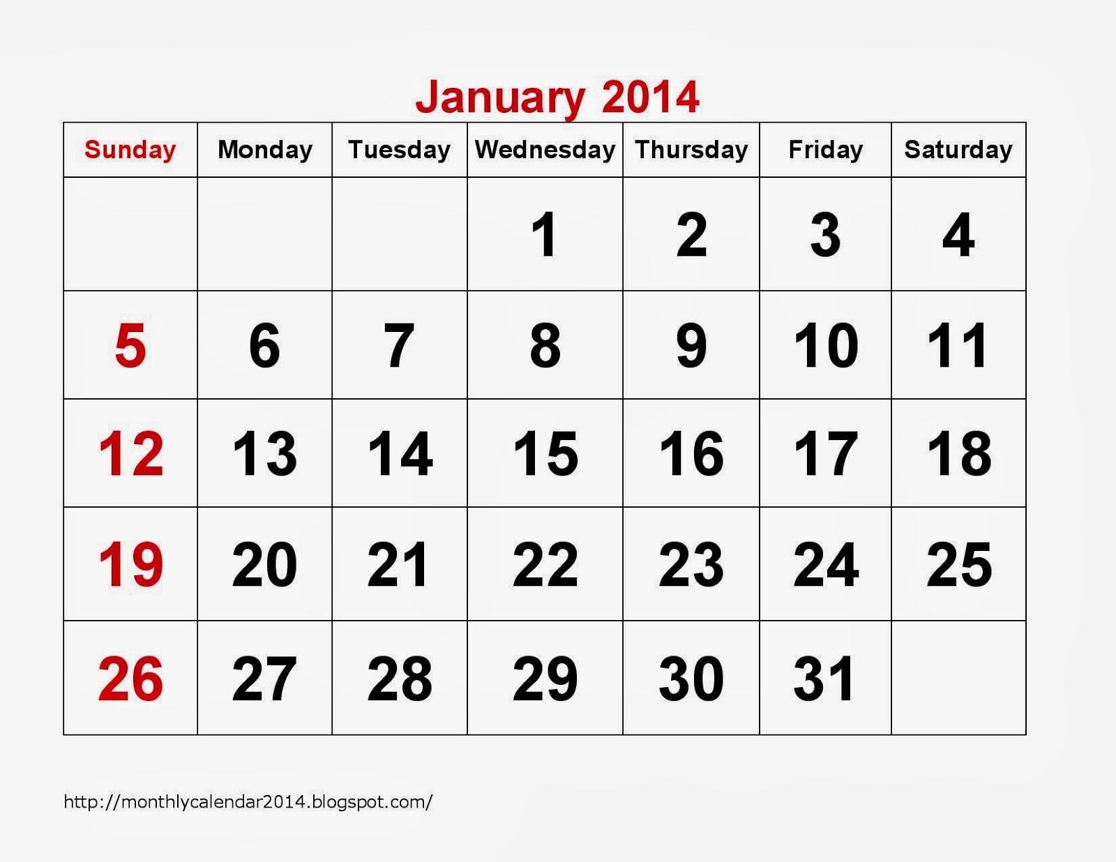 January Calendar Printable 18 Printable Calendar