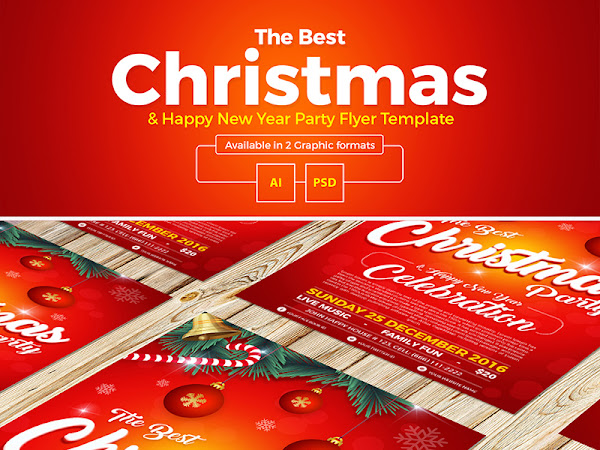Download Christmas & New Year Flyer Template Free
