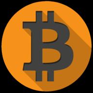 bitcoin colorful button