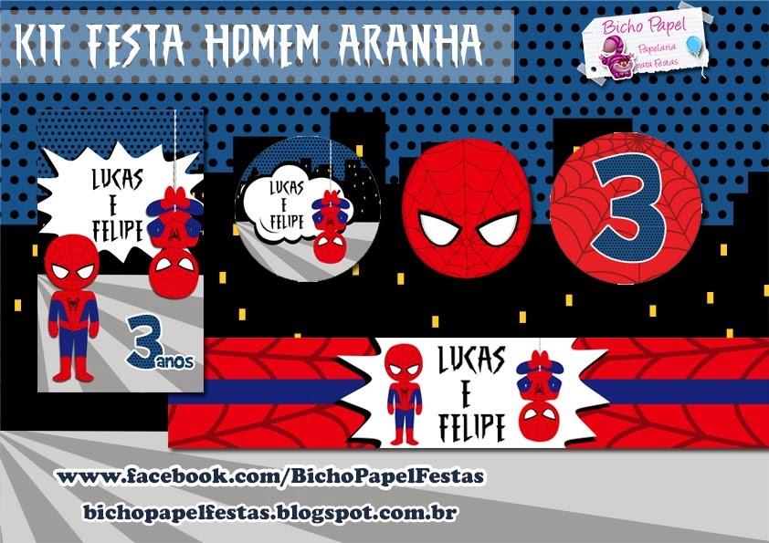 Kit Festa Homem Aranha