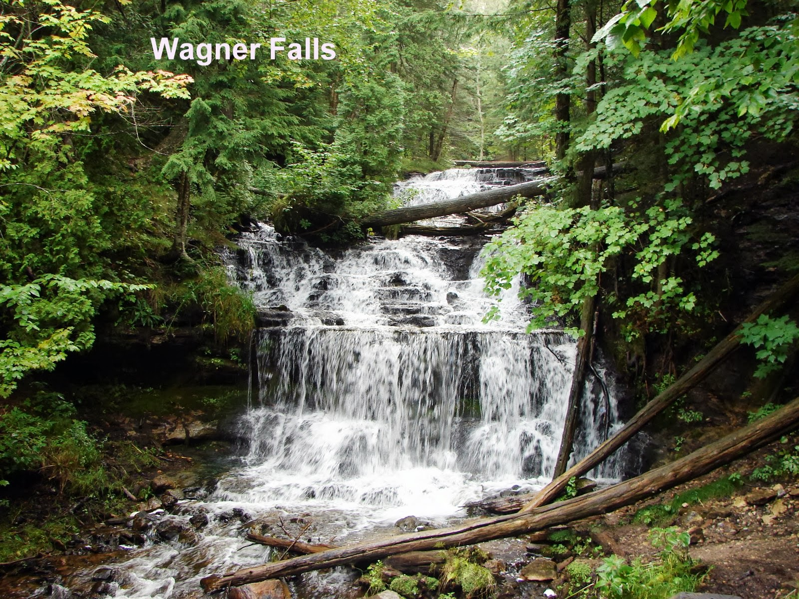 Michigan alger county munising - Then We Saw Alger Falls Just Roadside So It Was The Quick Take The Picture While Waiting At The Stop Sign Photo Opportunity