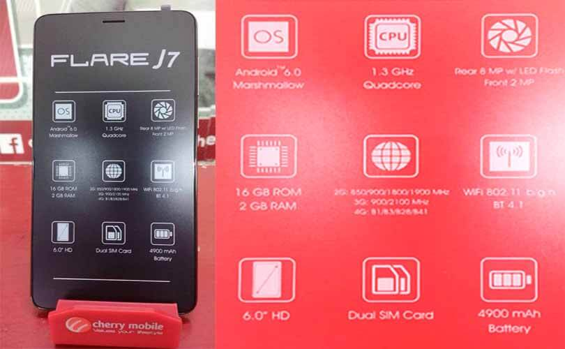 Cherry Mobile Flare J7 – 6-inch, 2GB RAM, LTE and 4900mAh Battery