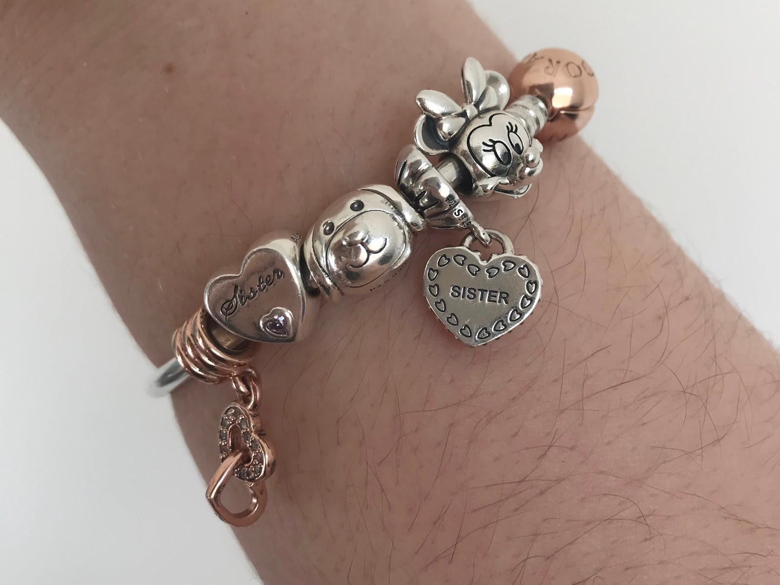 pandora charms story rose gold bracelet memories present gift christmas shopping girlfriend sister silver bangle