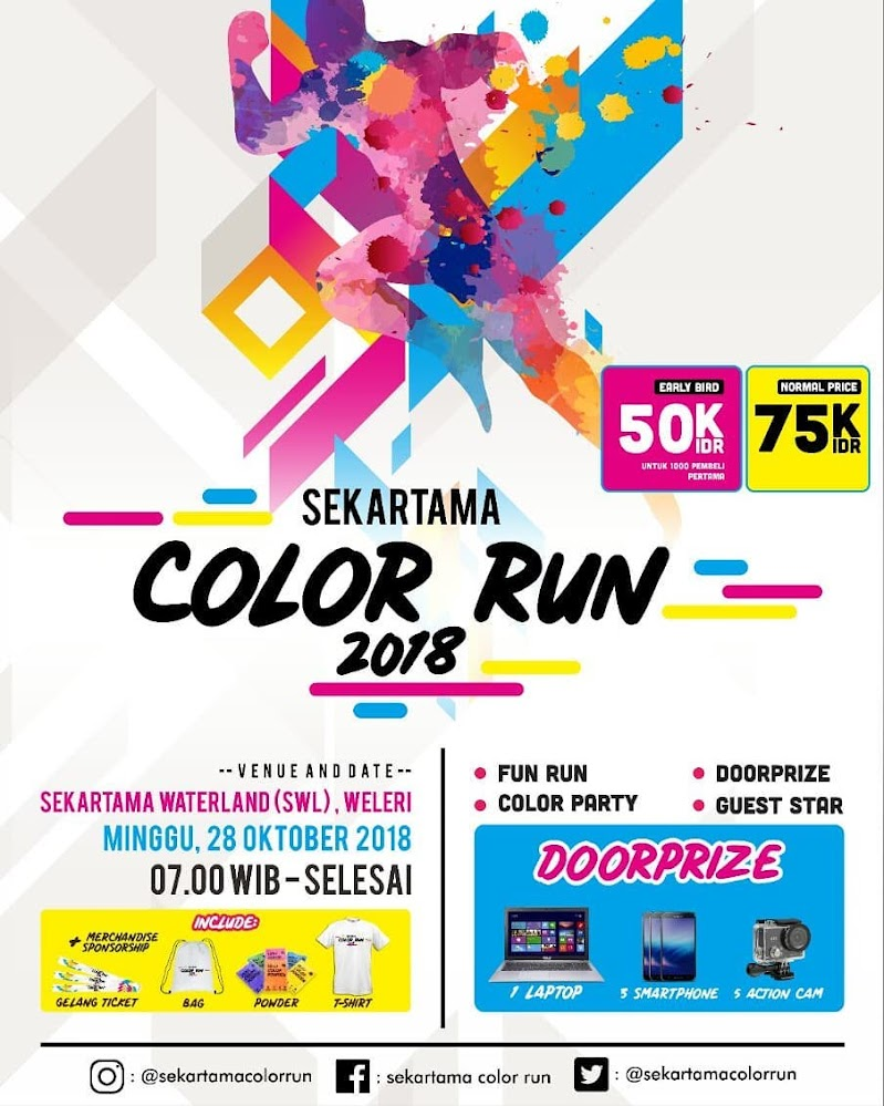 Sekartama Color Run 2018 Lariku Info