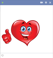 Positive emoticon heart thumbs up
