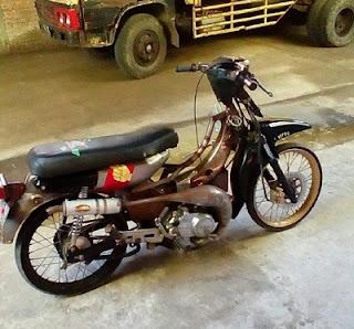 Yamaha V 75  modifikasi mesin ban knalpot