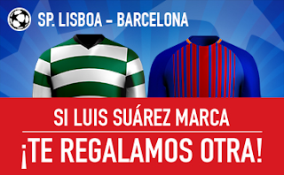 sportium promocion 25 euros Sporting Lisboa vs Barcelona 27 septiembre