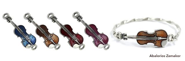 abalorio violín para pulseras