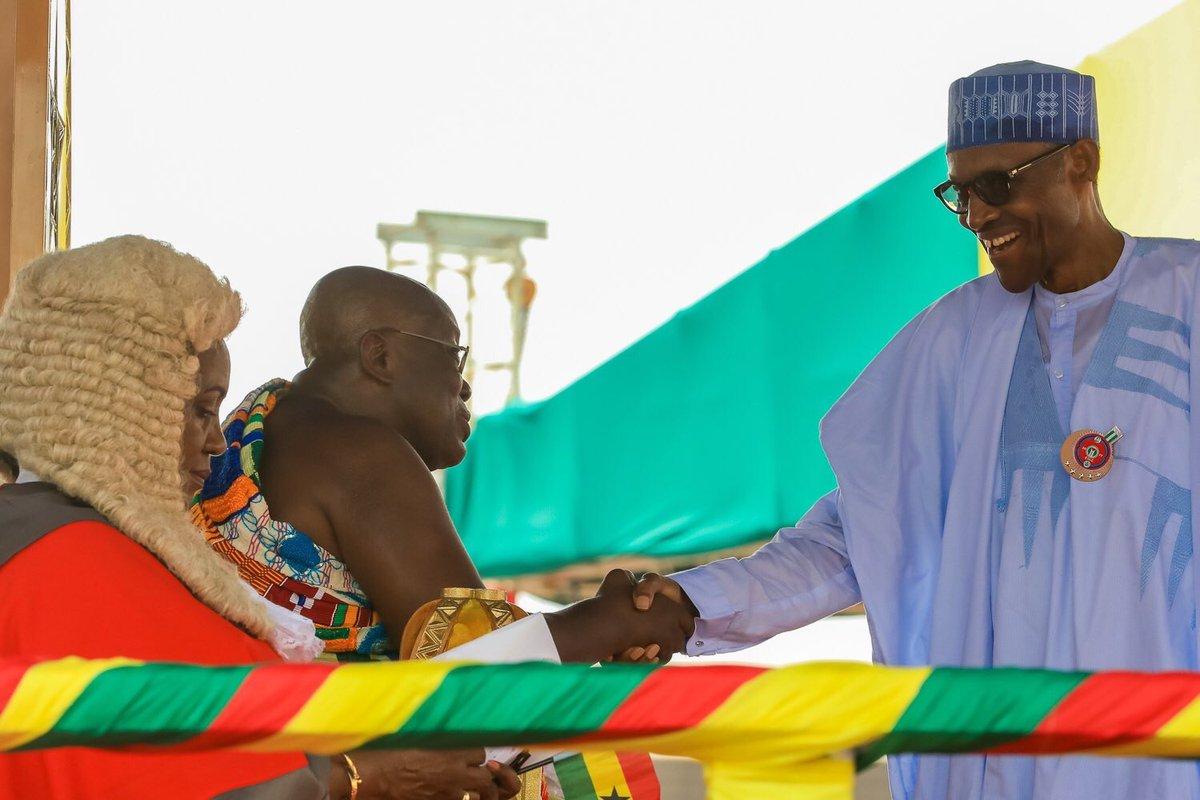 Ghana Swears In Nana Akufo-Addo As The New President, Pres. Buhari Attends