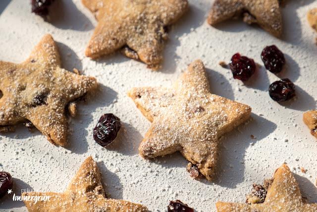 Plätzchen Cranberry-Sterne