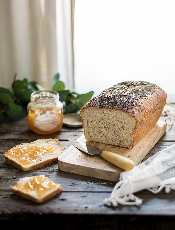 pan de molde espelta semillas de lino y chia