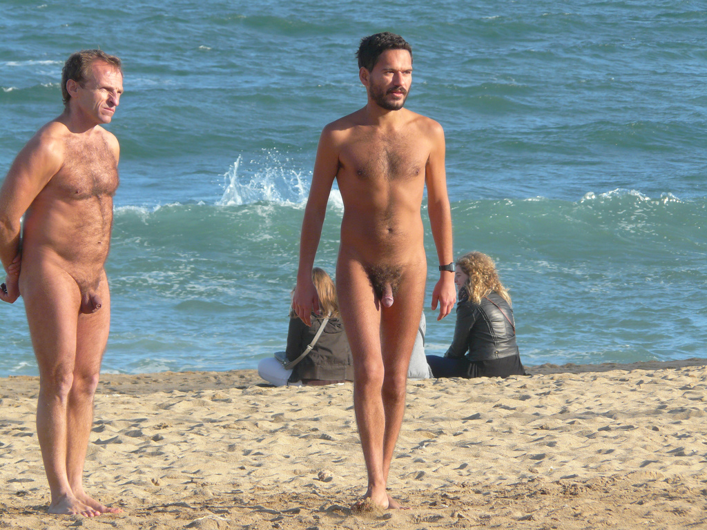 Gay sex on a nude beach-7066