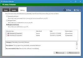 diretas virus komputer windows defender