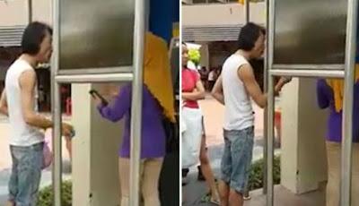 Kesal, Pria Permalukan Wanita Saat Gunakan ATM Terlalu Lama