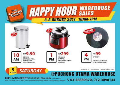 The Living Depot Warehouse Sale Discount Offer Promo