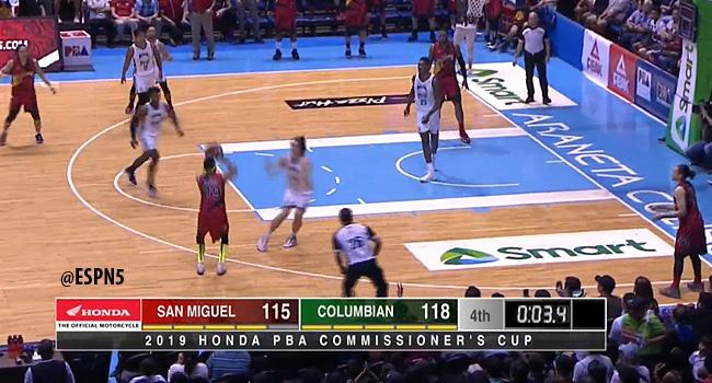 Columbian def. San Miguel, 134-132 in OT Thriller (REPLAY VIDEO) June 30