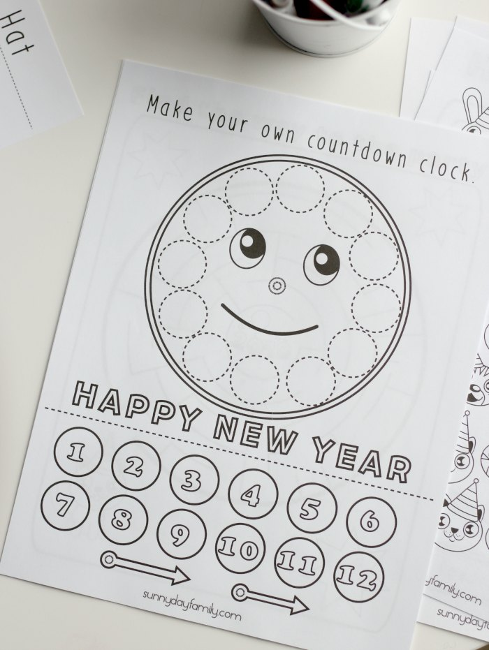 you can preview all the pages below then click on the button below to download your own happy new year activity pack