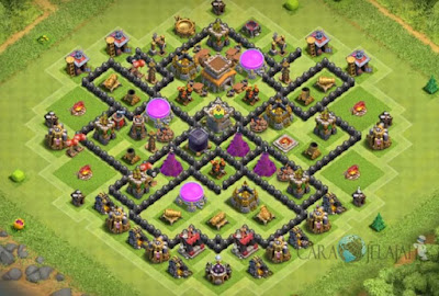 Base Hybrid TH 8 Clash Of Clans Terbaru Tipe 2