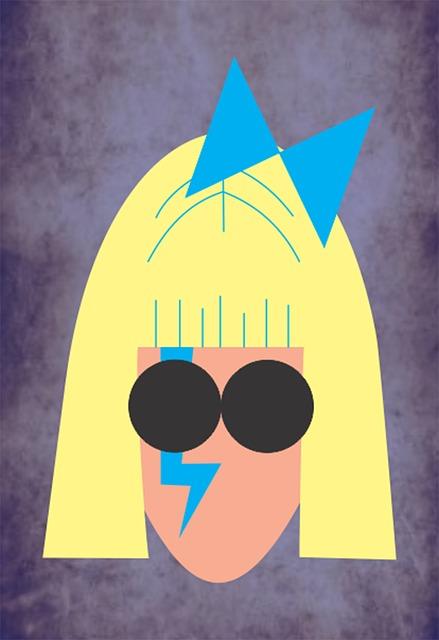 Ilustrasi Lady Gaga