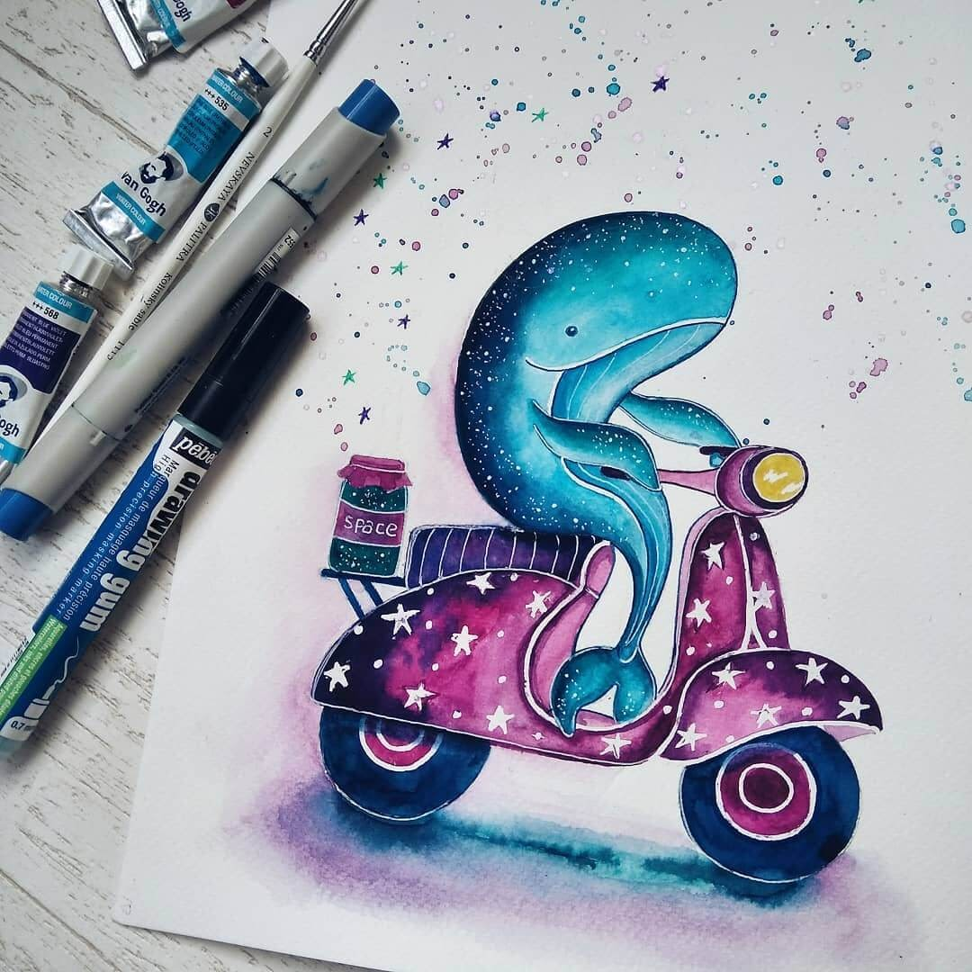 04-Style-on-a-Vespa-Katya-Goncharova-9-Whale-Paintings-and-1-Giraffe-www-designstack-co