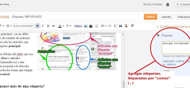 Crear una web. Como insertar imágenes | Un servicio de mundohandball.com