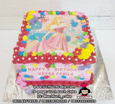 Kue Edible Image Princess Aurora Sleeping Beauty