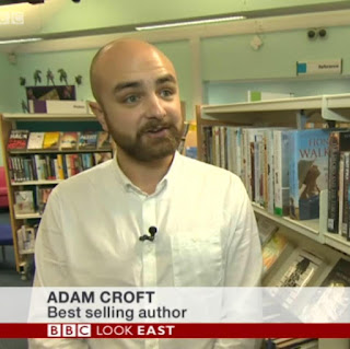 Adam Croft on Eeva Lancaster's Desk.