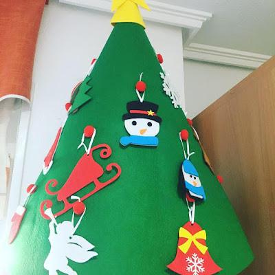 Arbol de Navidad, fieltro, adornos de navidad,