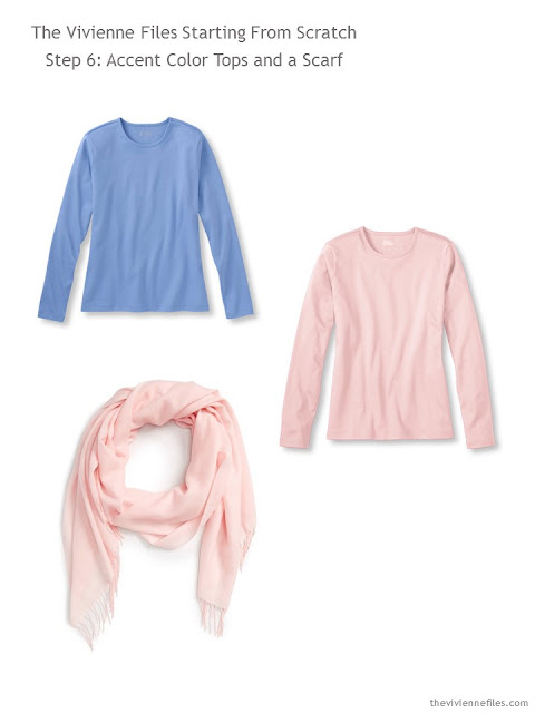 3 Starting From Scratch capsule wardrobe pieces in pink and light blue
