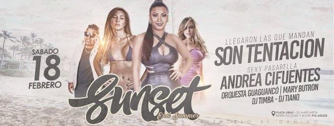 Sunset End Sumer con Andrea Cifuentes en Camaná - 18 de febrero