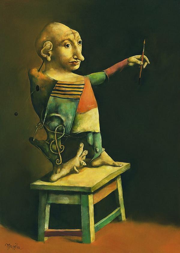 Georges Mazilu 1951   Romania   Surrealist painter
