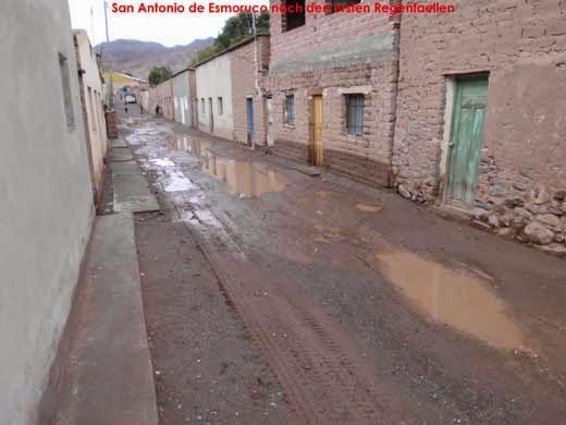 San Antonio de Esmoruco nach den ersten Regenfällen