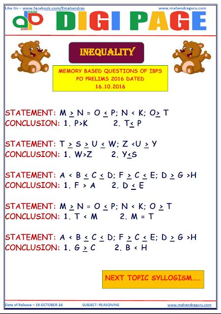 DP -  Inequality - Reasoning - 19 - Oct - 2016