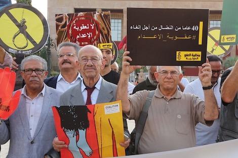 """حقوقيون مغاربة يختارون """"لغة الصمت"""" للمطالبة بإلغاء عقوبة الإعدام"""