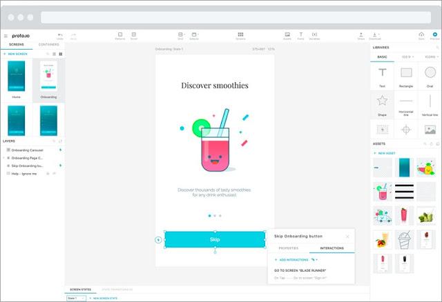 design tool, proto.io