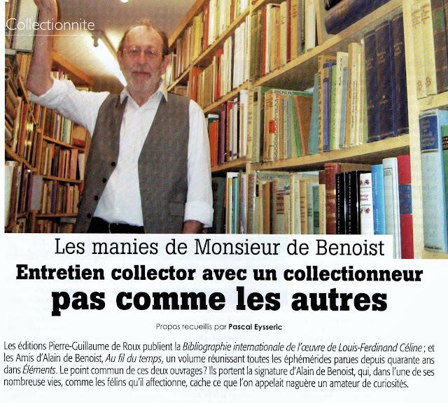 Alain de Benoist revue Eléments