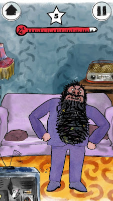 Roald Dahl's House of Twits App Now Available | Morgan's Milieu: Poke Mr Twit to gain points and make him angry.