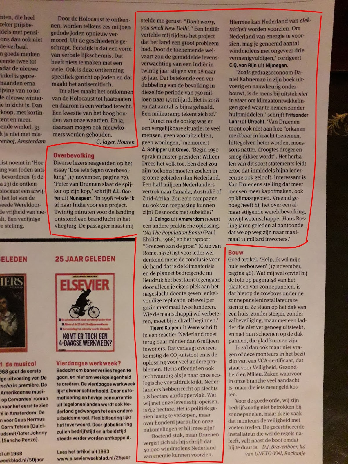 Elsevier weekblad, overbevolking, Peter van Druenen, De Klimaatparadox