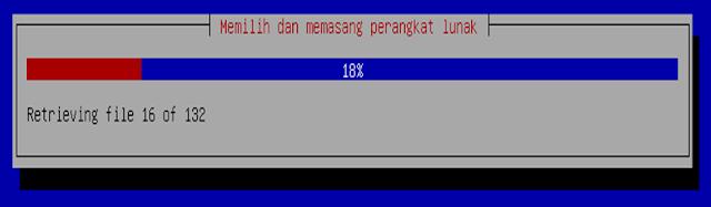 Instalasi Debian - Tunggun hingga pemasangan perangkat lunak 100%