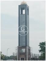 ornamen cor aluminium menara masjid