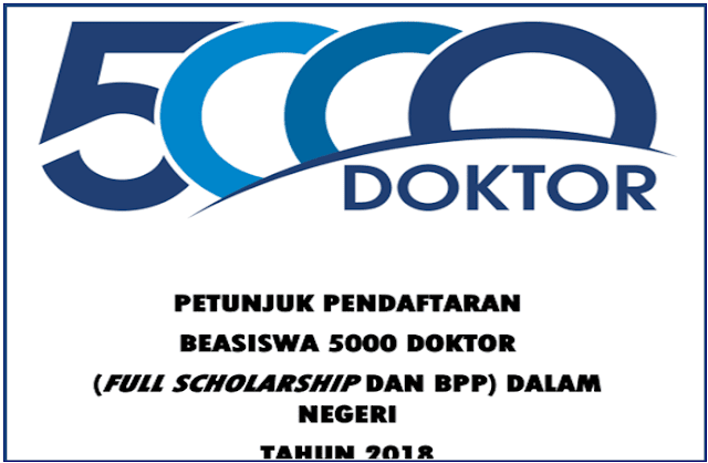 Petunjuk Tekns Pendaftaran Beasiswa Program 5000 Doktor Tahun 2018
