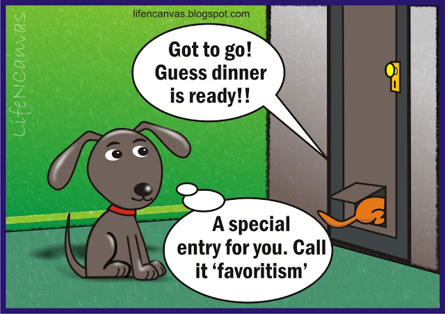 dog door cartoon