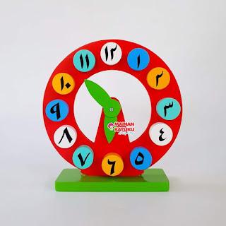 Jam Mainan Anak Angka Arab